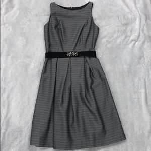 Silver Winter Holiday Cocktail Dress Nine West